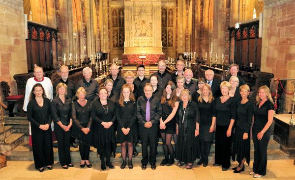 Sherborne Singers in Sherborne Abbey, 17 July 2016